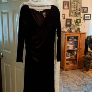 Burgandy, size 14, gown.